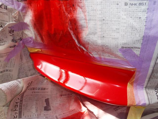 車体の塗装修理