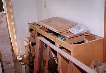 キッチンDIY その2 作りつけ食器棚