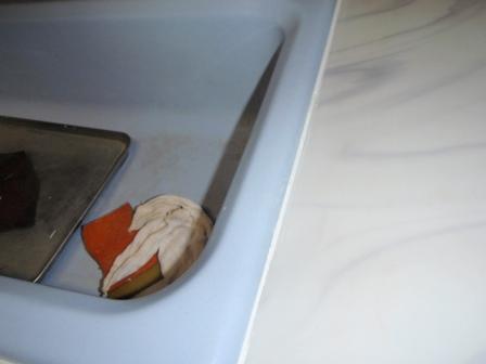 キッチンシンクコーキング補修