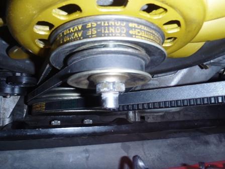 オルタネータシャフトの修理