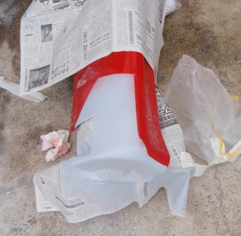 サイドスカート修理